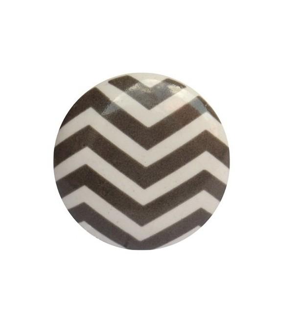 Bouton de meuble Chevron - 6 couleurs - Boutons Mandarine