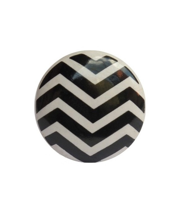 Bouton de meuble Chevron - 6 couleurs