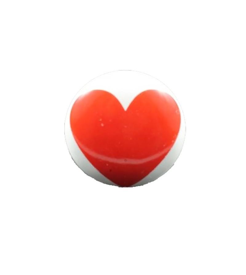bouton de meuble impression coeur en porcelaine boutons. Black Bedroom Furniture Sets. Home Design Ideas