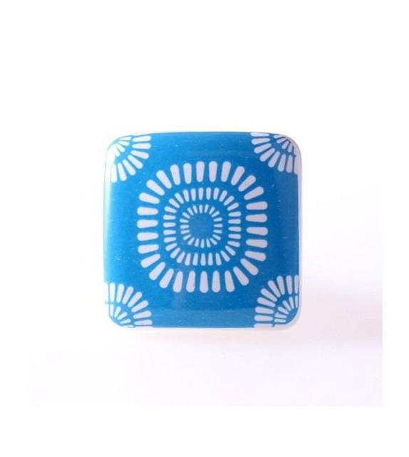 Bouton de meuble Bohème en porcelaine - Boutons Mandarine