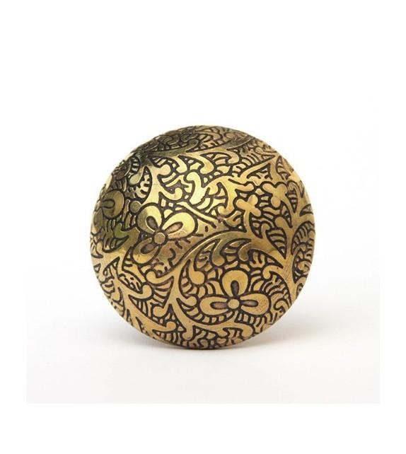 Bouton de meuble or dor pour porte et tiroir boutons - Coin de meuble en laiton ...