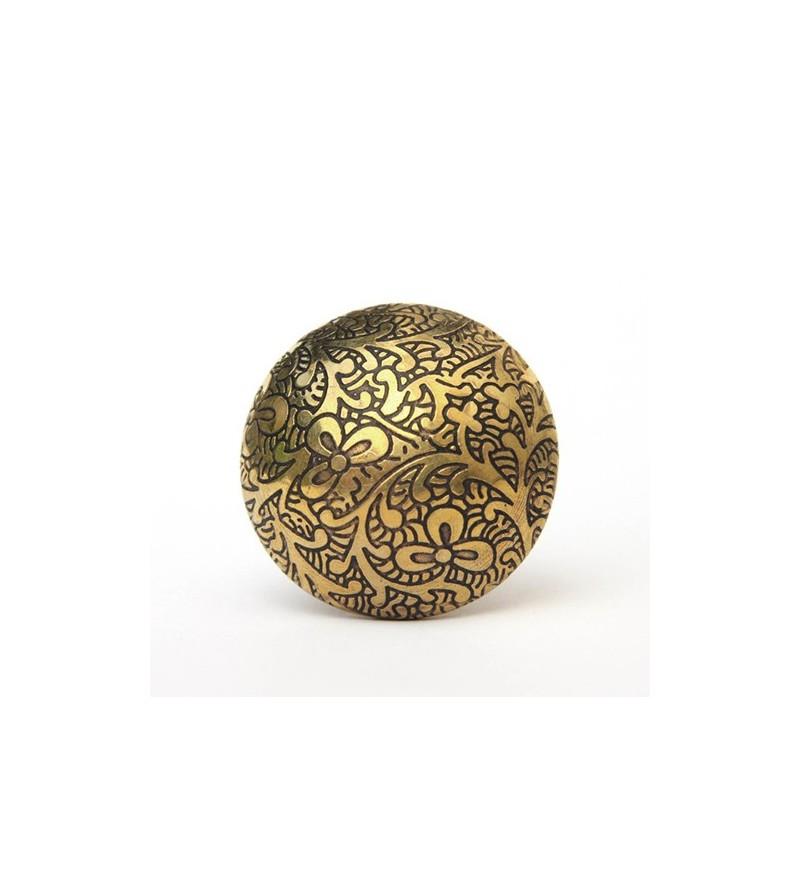 Bouton de meuble floral antique en laiton boutons - Bouton de meuble original ...