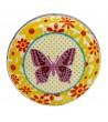 Bouton de meuble Papillon rose en porcelaine