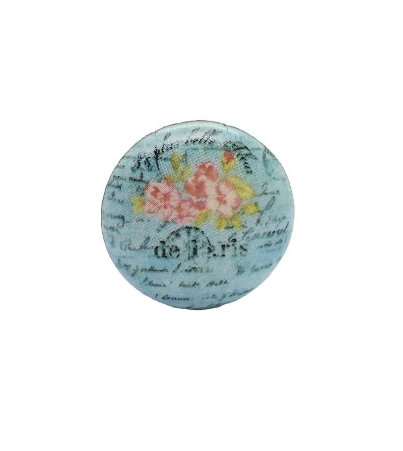 Bouton de meuble fleur de paris en porcelaine boutons - Bouton en porcelaine pour meuble ...