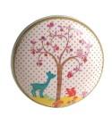 Bouton de meuble Enchanté - Petit Cerf en porcelaine