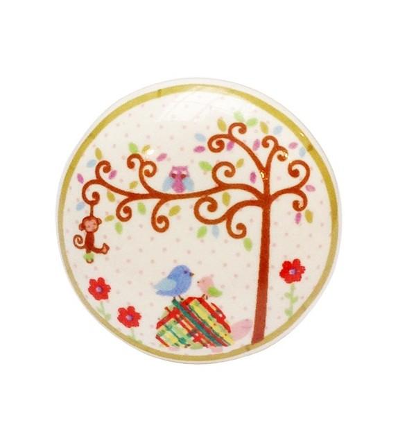 Bouton de meuble Enchanté - Arbre de la Forêt en porcelaine - Boutons Mandarine