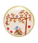 Bouton de meuble Enchanté - Arbre de la Forêt en porcelaine