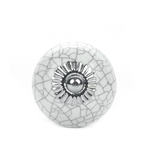 Bouton de meuble Antique effet craquelé en porcelaine