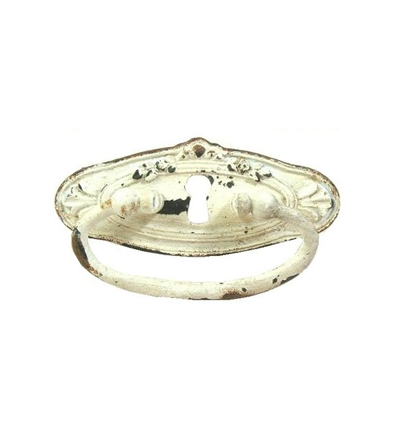Poignée de meuble Fanny avec anneau et serrure - Boutons Mandarine