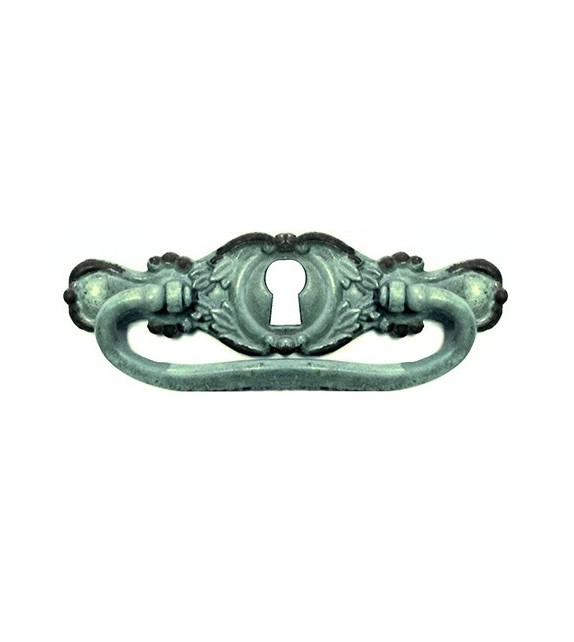 Poignée de meuble Babette avec anneau et serrure - Boutons Mandarine