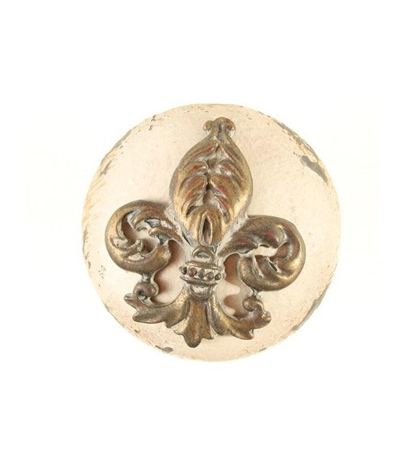Bouton de meuble Blason Fleur de Lys - Boutons Mandarine