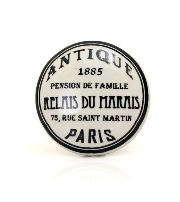 Bouton de meuble Relais du Marais