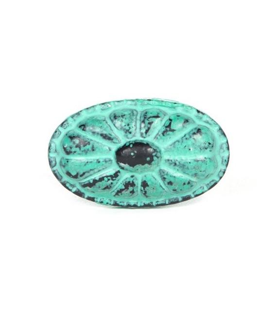 Bouton de meuble en fonte Vintage ovale - Boutons Mandarine