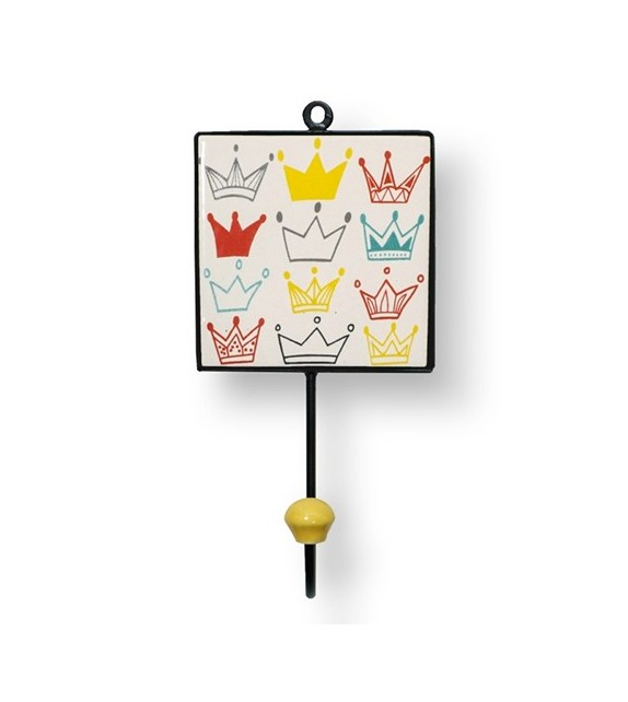 Patère murale carré Petit Roi