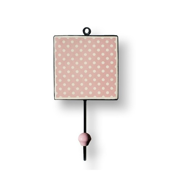 pat re murale carr e pois boutons. Black Bedroom Furniture Sets. Home Design Ideas