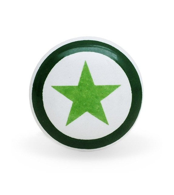 Bouton de meuble Army imprimé étoile