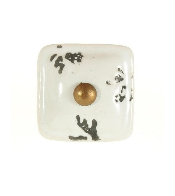 Bouton de meuble Lubéron en porcelaine - Boutons Mandarine