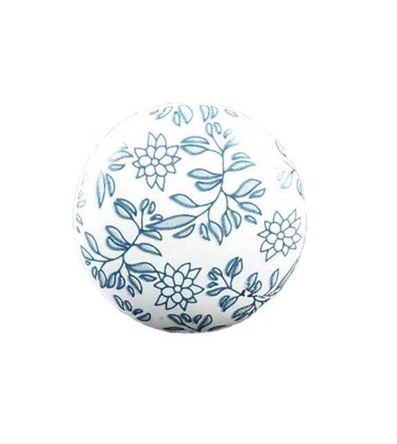 Bouton de meuble Russian floral en porcelaine