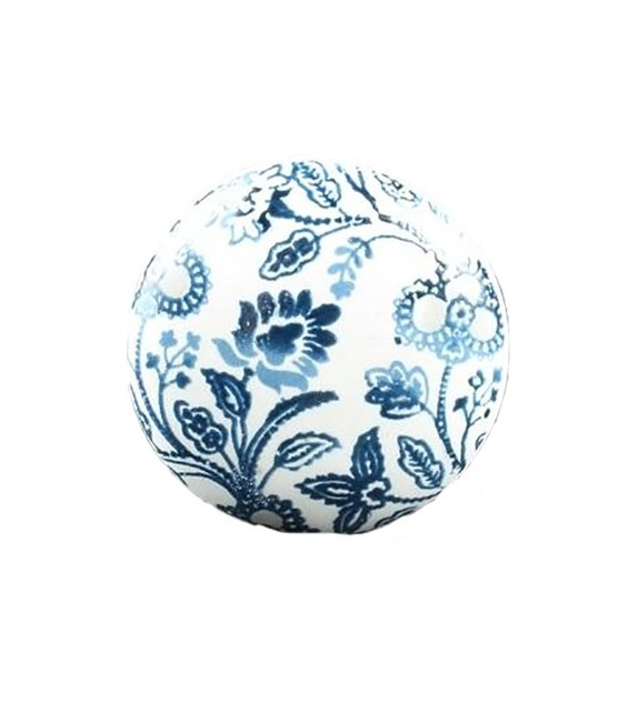 Bouton de meuble Russian bis floral en porcelaine - Boutons Mandarine