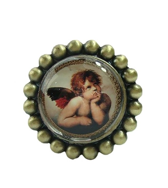Bouton de meuble Petit Ange n°2 en laiton