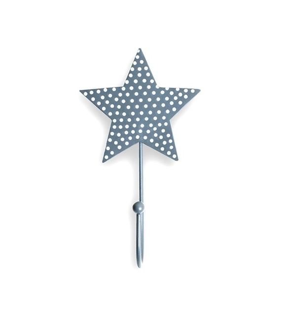 Patère murale forme étoile à pois