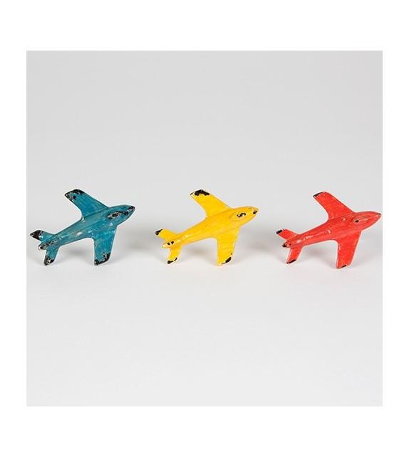 Boutons de meubles 3 Avions colorés
