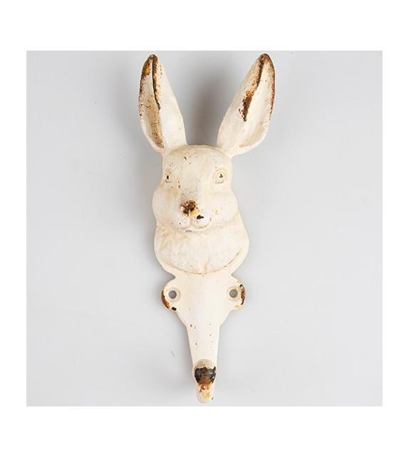 Patère murale Tête de lapin