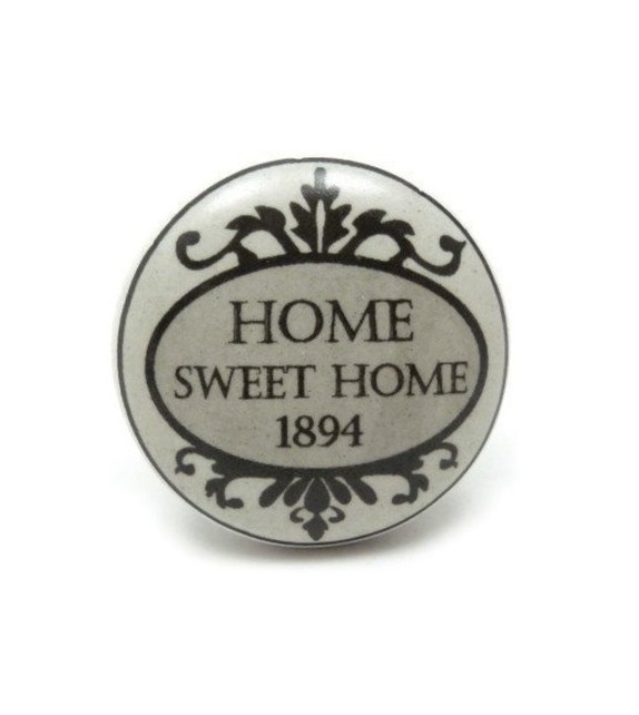 Bouton de meuble Home Sweet Home 1894 - Boutons Mandarine