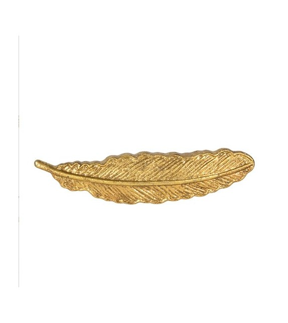 Poignée de meuble Plume or - Boutons Mandarine