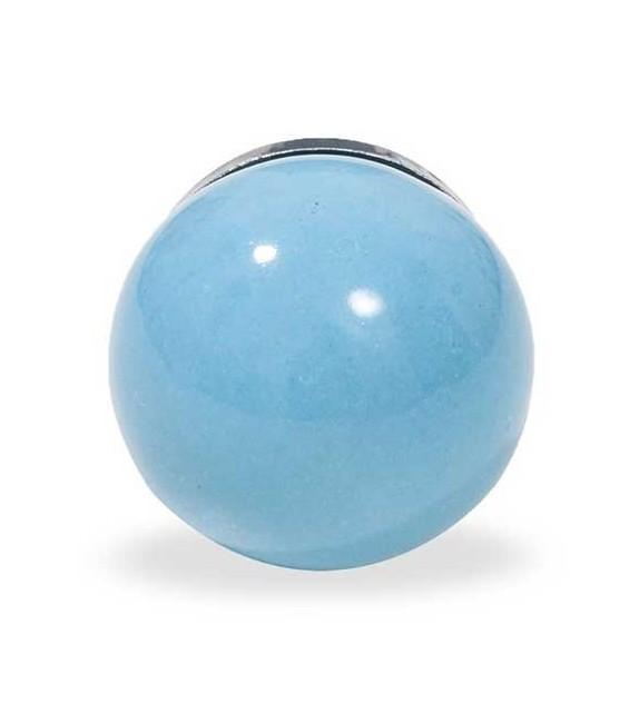 Bouton de meuble Bille couleur unie en porcelaine - Boutons Mandarine