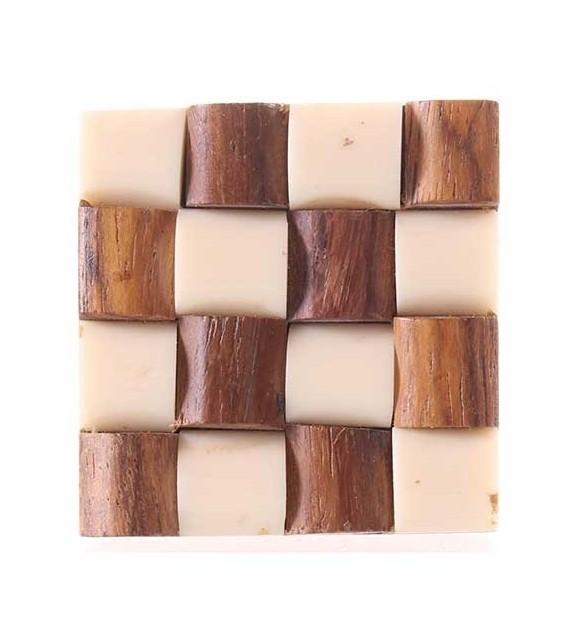 Bouton de porte carré Macramé en résine - Boutons Mandarine