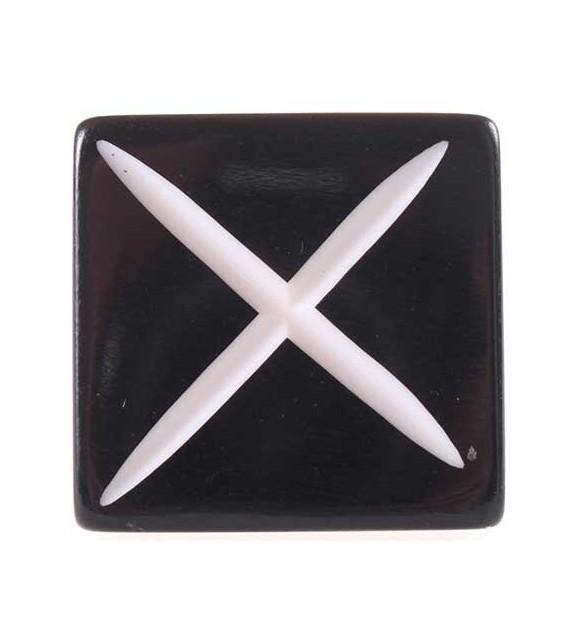 Bouton de porte carré noir style ethnique - Boutons Mandarine