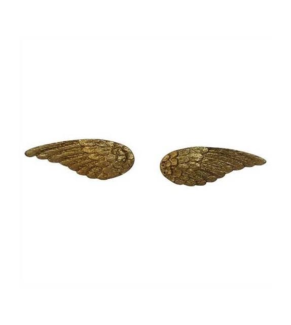 Boutons de meubles Ailes d'Ange dorés en métal