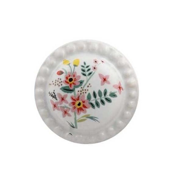 Bouton de meuble Bouquet de Fleur Aquarelle porcelaine dentelée
