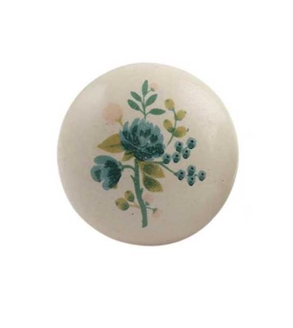 Bouton de meuble Bouquet de Fleur Aquarelle en porcelaine - Boutons Mandarine