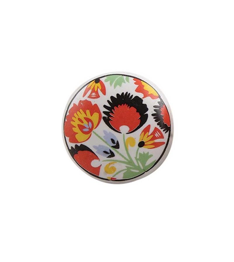 bouton de meuble fleur paon vintage en porcelaine boutons. Black Bedroom Furniture Sets. Home Design Ideas