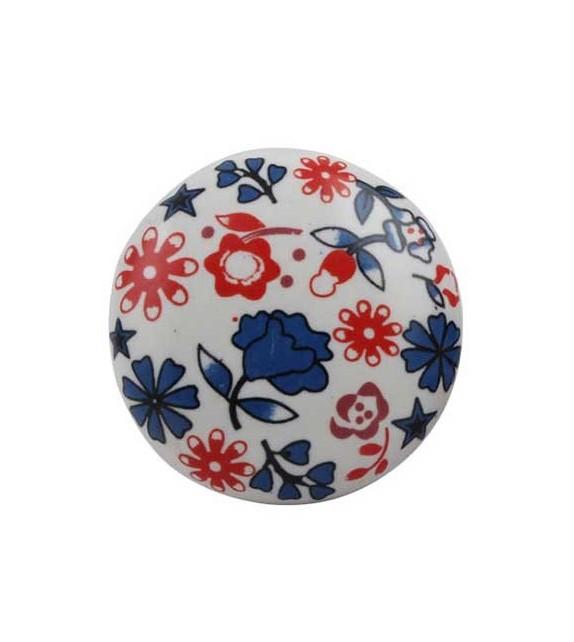 Bouton de meuble Paquerette en porcelaine