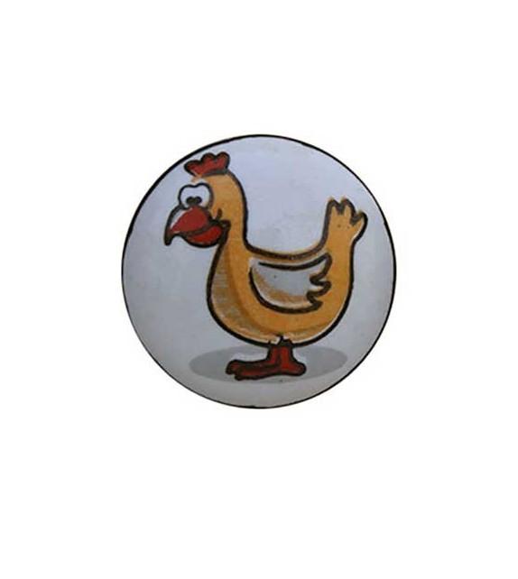 Bouton de meuble Animaux enfant porcelaine blanche - Boutons Mandarine