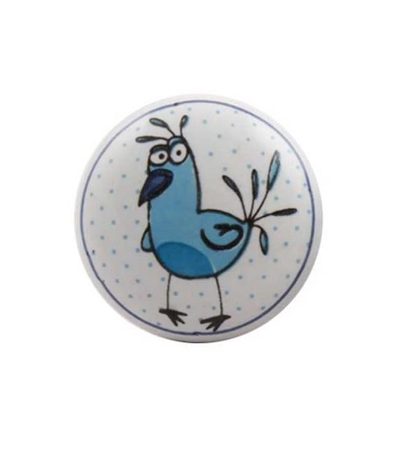 Bouton de meuble Animaux Rigolos enfant porcelaine - Boutons Mandarine