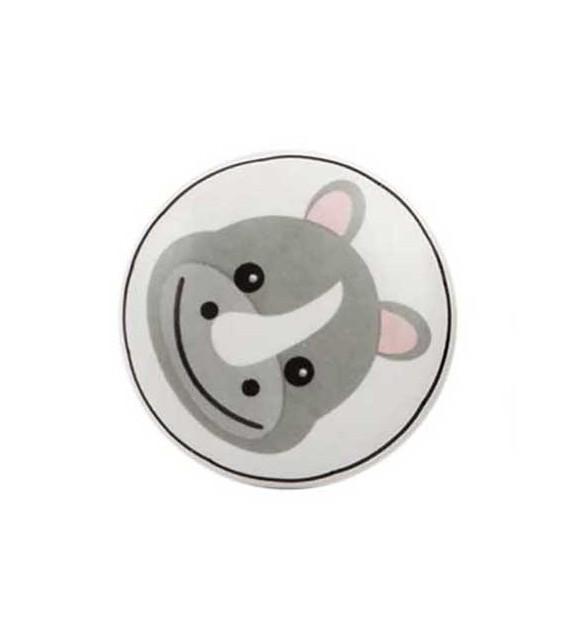 Bouton de meuble Animaux Savane enfant porcelaine - Boutons Mandarine