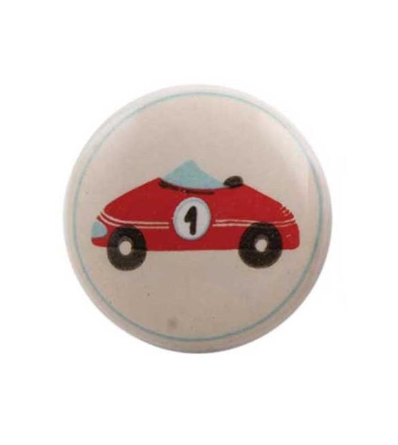 Bouton de meuble Transport Garçon enfant en porcelaine - Boutons Mandarine