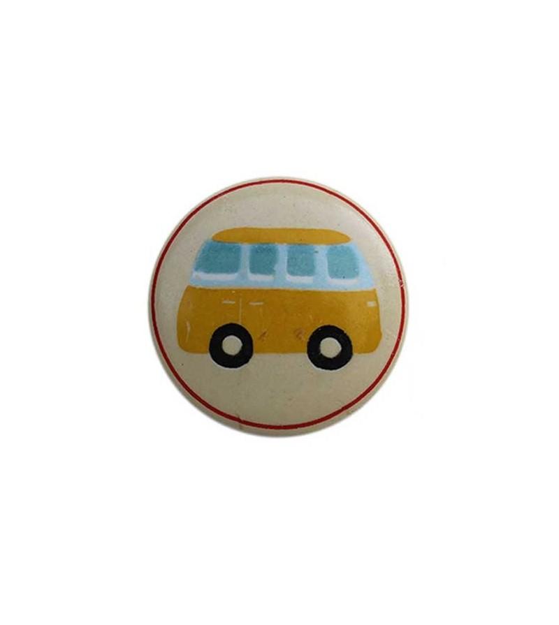 bouton de meuble transport gar on enfant en porcelaine. Black Bedroom Furniture Sets. Home Design Ideas
