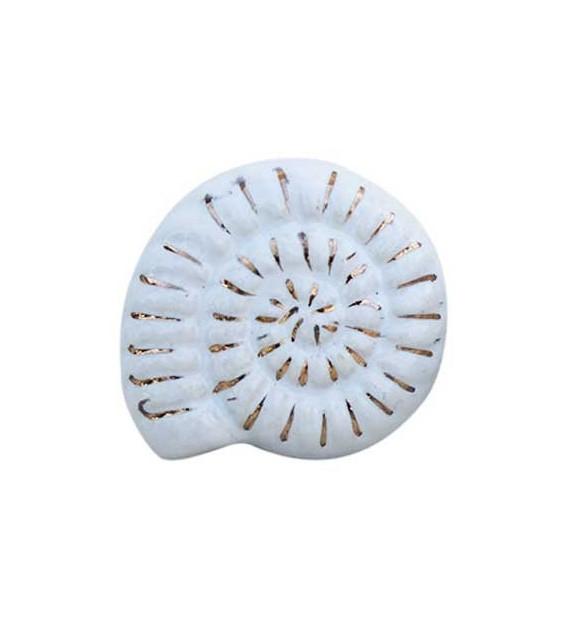 Bouton de meuble Ammonite en porcelaine - Boutons Mandarine