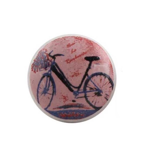 Bouton de meuble Bicyclette en porcelaine