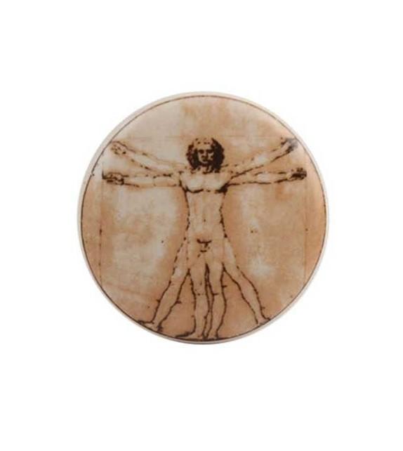 Bouton de meuble Homme de Vitruve - Léonard de Vinci en porcelaine