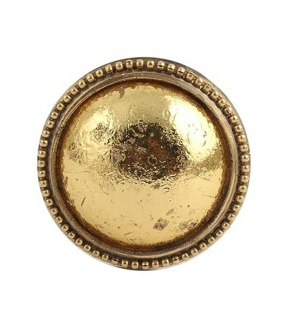 Bouton de meuble Puce Or style Antique en métal