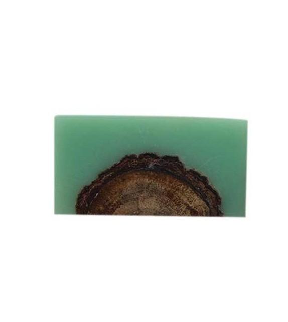 Bouton de meuble Wood rectangulaire en bois et résine
