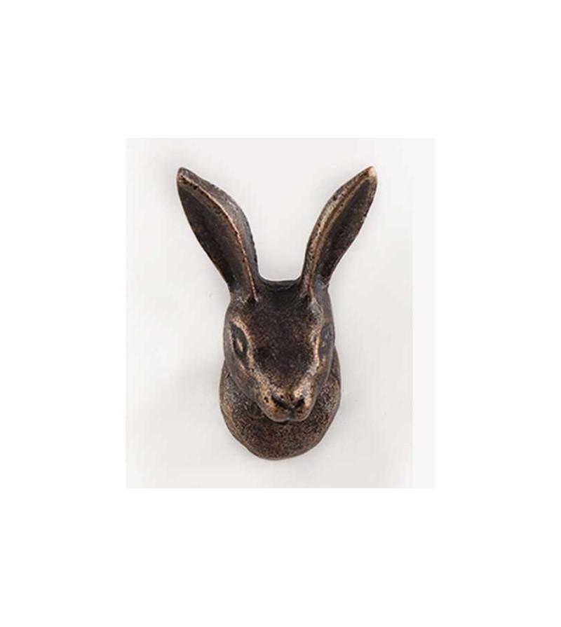 Bouton de meublet te de lapin en laiton dor boutons - Boutons de meubles originaux ...