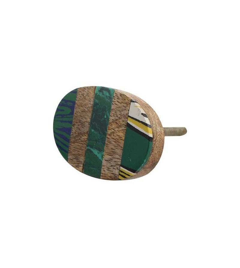 bouton de meuble ethnique en bois vert boutons. Black Bedroom Furniture Sets. Home Design Ideas