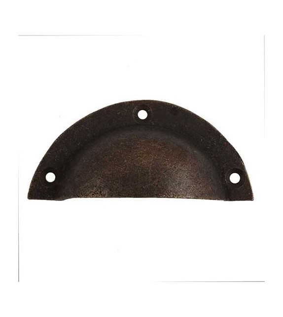 Poignée de meuble coquille zamak couleur bronze